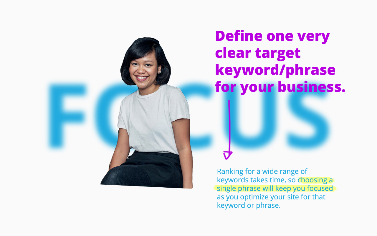 Define one very clear target keyword for your SEO