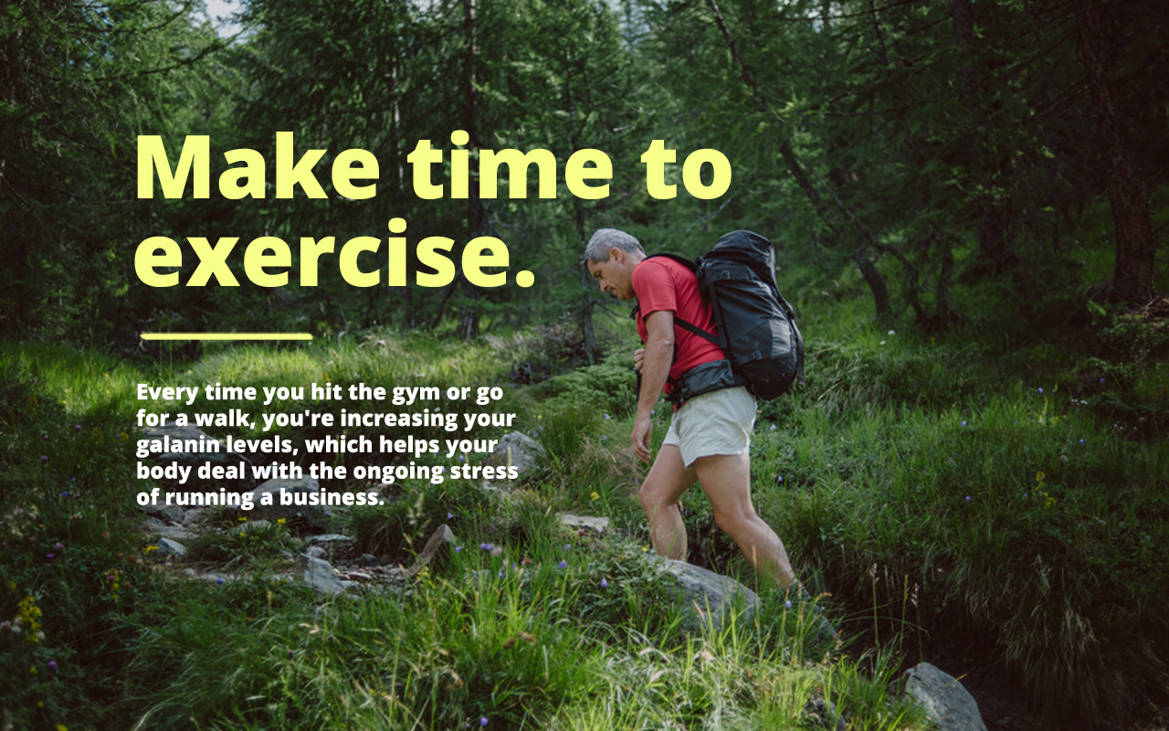 Help your body manage business stress by exercising