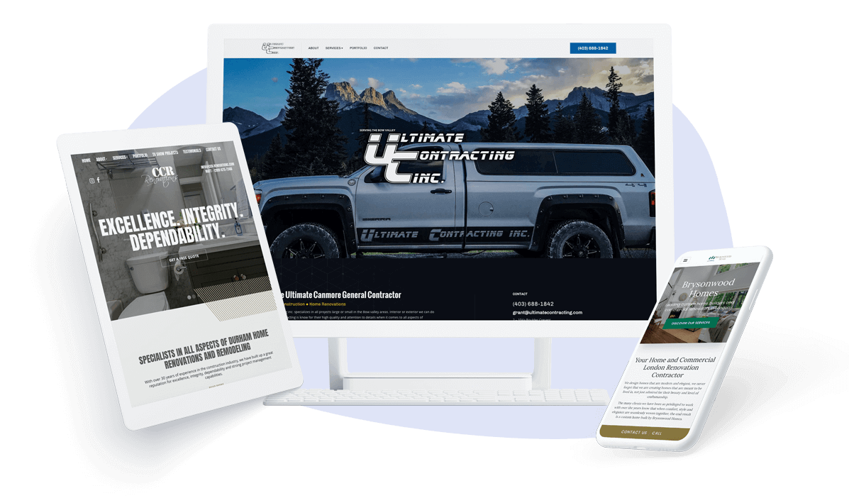 find the best designs for your contractor business website
