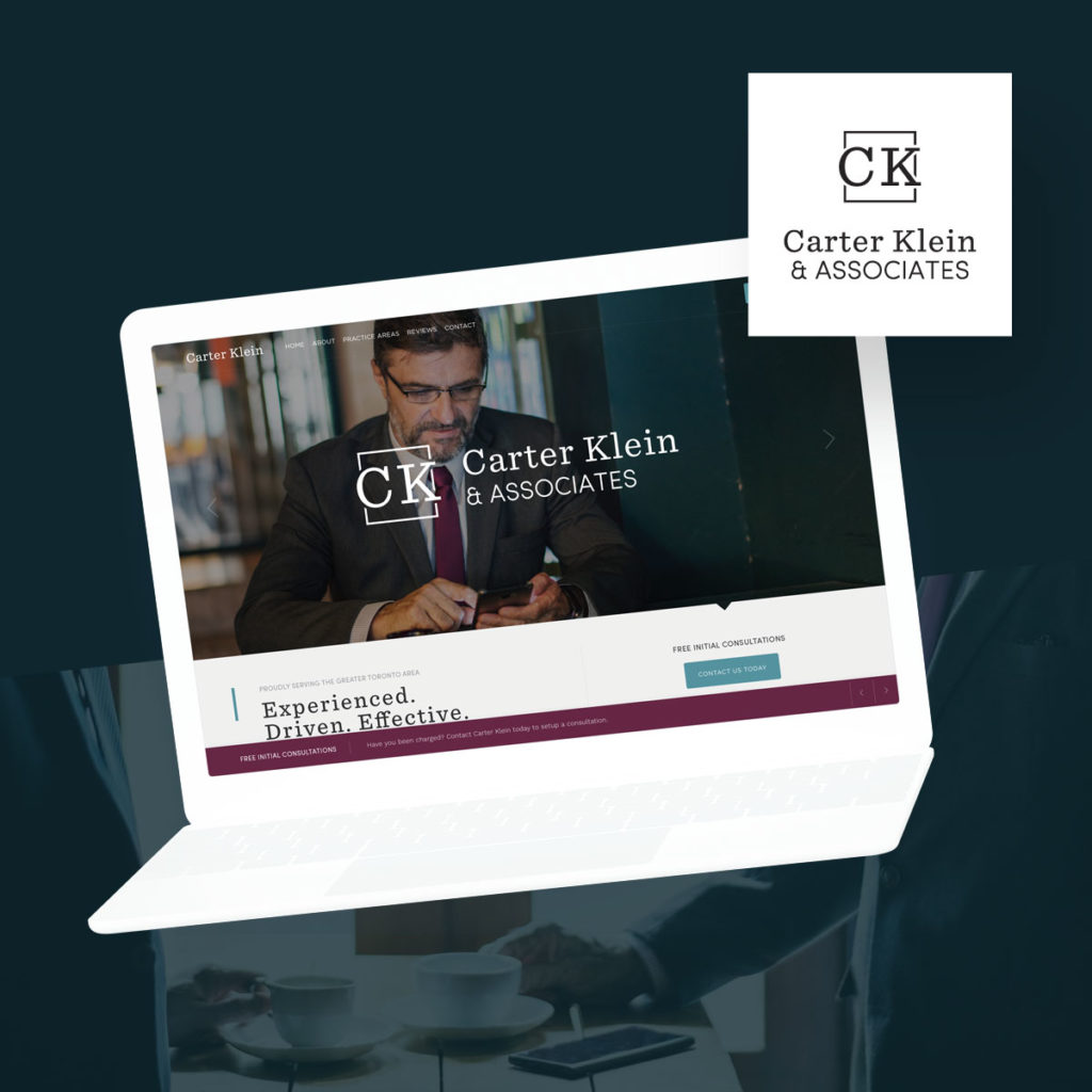 custom logo and website for lawyer